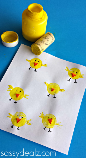 wine-cork-chick-easter-craft