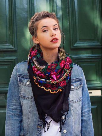foulard-folk-noir